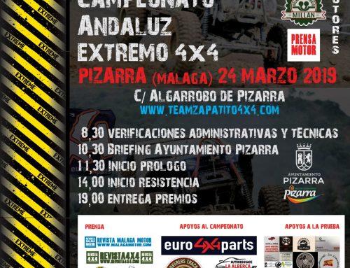 PIZARRA INAUGURA EL 24 DE MARZO EL CAMPEONATO DE ANDALUCIA EXTREMO 4X4