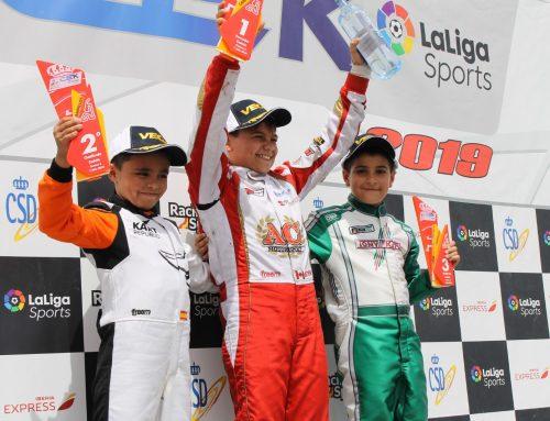 El piloto malagueño Alberto Hurtado logra un segundo puesto en el Campeonato de España de karting disputado en Campillos